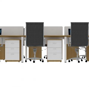 Linear Workstation 6 Seater with 3 drawer [LGSWS5008]