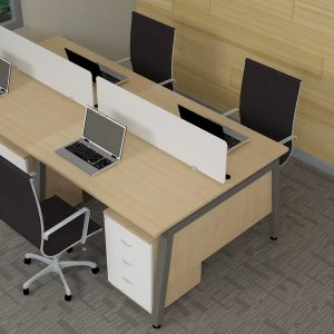 4 Seater Linear Work Desk – LWS5002